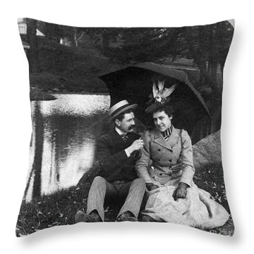 Love, 1900 Throw Pillow by Granger