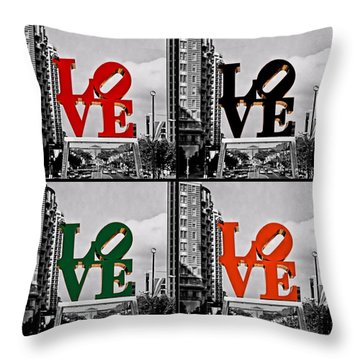Throw Pillow featuring the photograph Love 4 All by DJ Florek