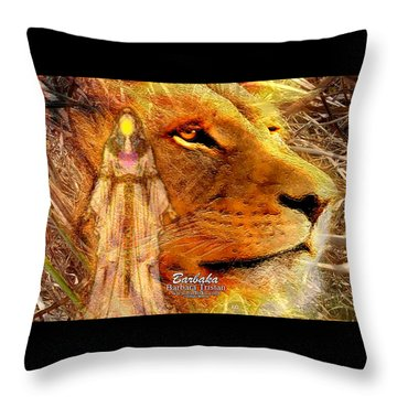 Throw Pillow featuring the digital art Love 444 Cecil by Barbara Tristan