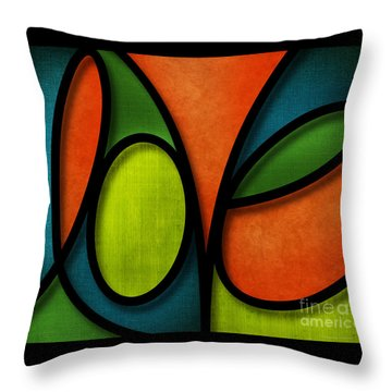 Love - Abstract Throw Pillow by Shevon Johnson