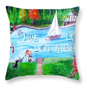 Love All Life Throw Pillow