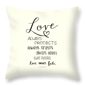 Throw Pillow featuring the drawing Love Always by Nancy Ingersoll