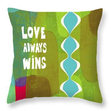 Love Always Wins Throw Pillow