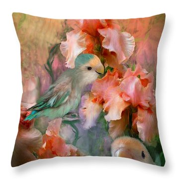 Love Among The Irises Throw Pillow