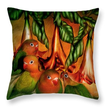 Love Among The Trumpets Throw Pillow