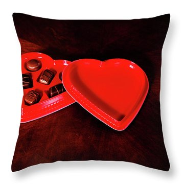 Love And Chocolate Throw Pillow