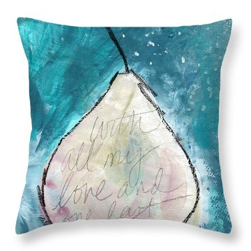 Love And Hope Pear- Art By Linda Woods Throw Pillow