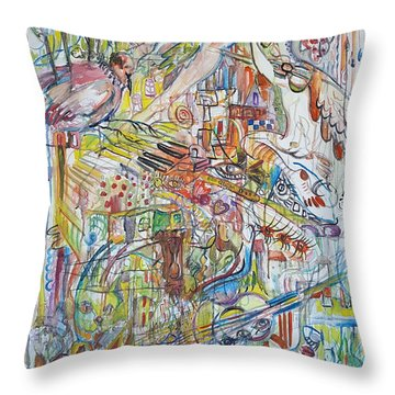 Love And Music Throw Pillow by Rita Fetisov