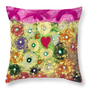 Love And Silly Bubbles Throw Pillow