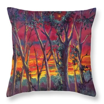 Love And The Evening Star Throw Pillow