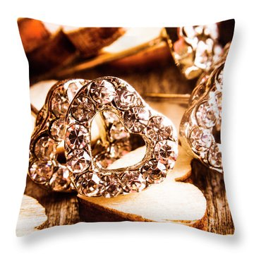 Love And The Jewellery Store Throw Pillow