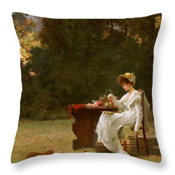 Love At First Sight Throw Pillow by Marcus Stone
