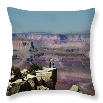 Love At The Grand Canyon Throw Pillow