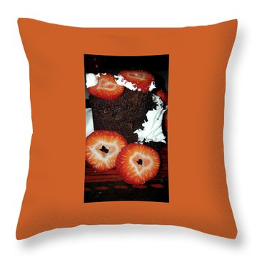 Love Berry Much Throw Pillow by Kelly Reber