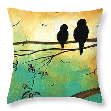 Love Birds By Madart Throw Pillow