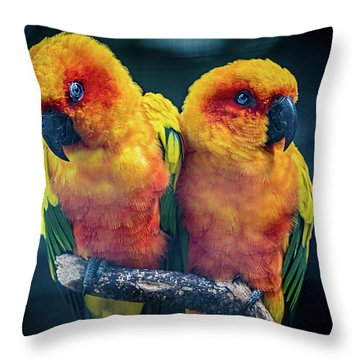 Throw Pillow featuring the photograph Love Birds by Chris Lord