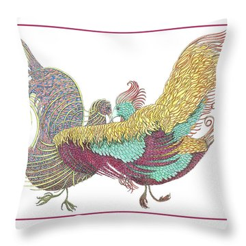 Love Birds Dancing Throw Pillow