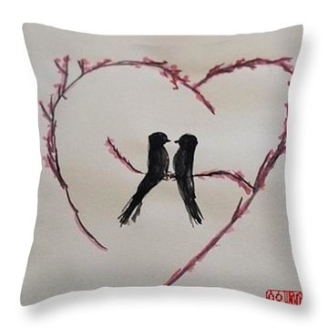 Love Birds Throw Pillow