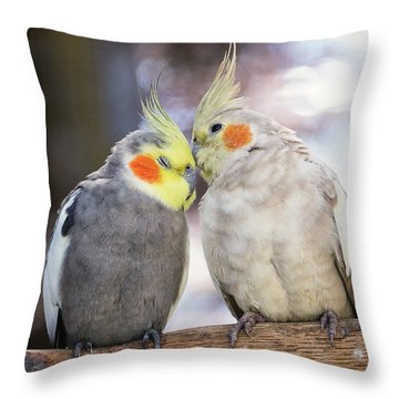 Love Birds Throw Pillow by Stephanie Hayes