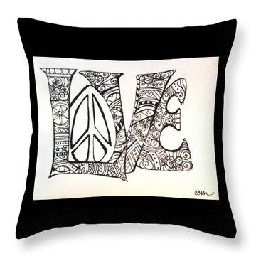 Love Bits Throw Pillow