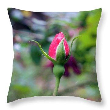 Love Blooming Throw Pillow