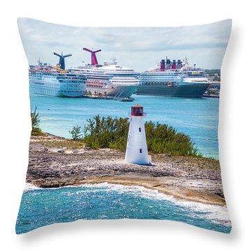 Love Boat Lane Throw Pillow