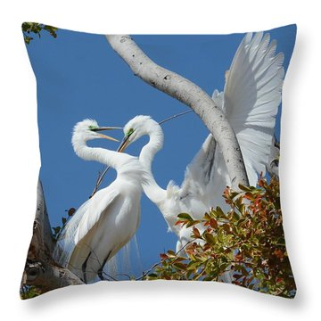 Love Branch Throw Pillow