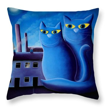 Love By The Pale Moonlight Throw Pillow by Chris Mackie