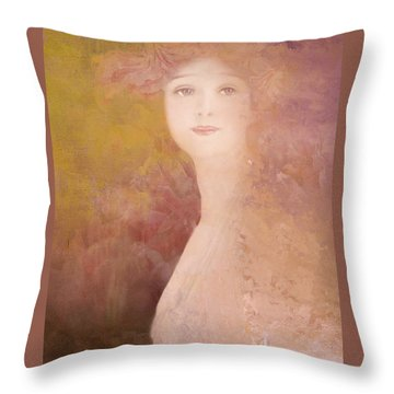 Throw Pillow featuring the digital art Love Calls by Jeff Burgess