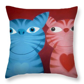 Love Catz Throw Pillow