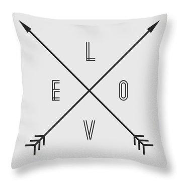 Love Compass Throw Pillow