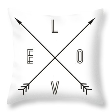 Love Compass Throw Pillow
