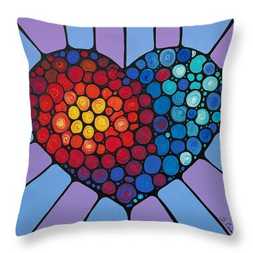 Love Conquers All Throw Pillow by Sharon Cummings