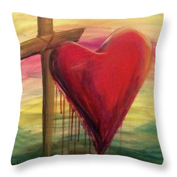 Love Covers All Throw Pillow