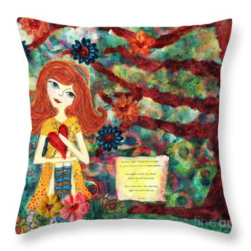 Love Creates Art Throw Pillow