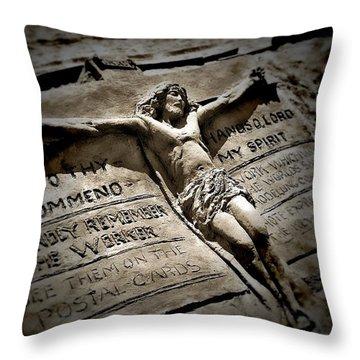 Love Crucified Arose Throw Pillow by Allen Beilschmidt