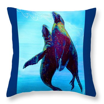 Throw Pillow featuring the painting Pure Love by Debbie Chamberlin