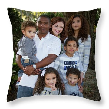 Throw Pillow featuring the photograph Love Demonstrated James Ingram Family Art by Reid Callaway