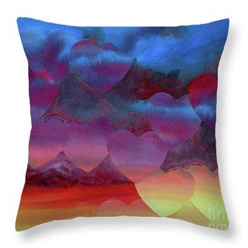 Love Drift Throw Pillow by Jeni Bate