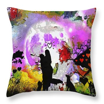 Love Family And Friendship In The Mix Throw Pillow