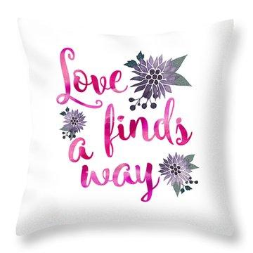Throw Pillow featuring the digital art Love Finds A Way by Carter Jones