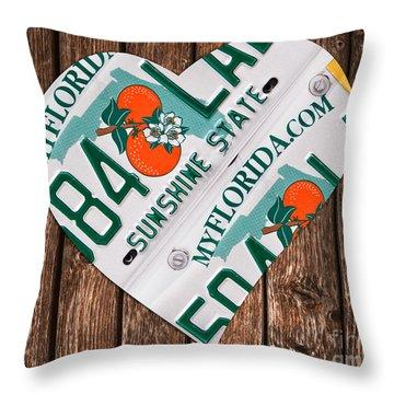 Love Florida Throw Pillow