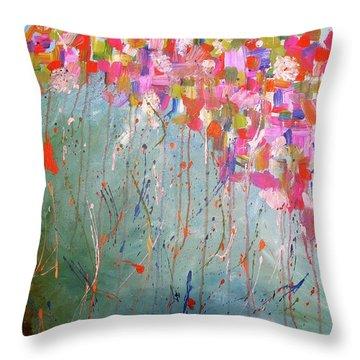 Love Flower Mountain Throw Pillow