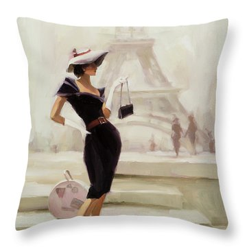 Love, From Paris Throw Pillow