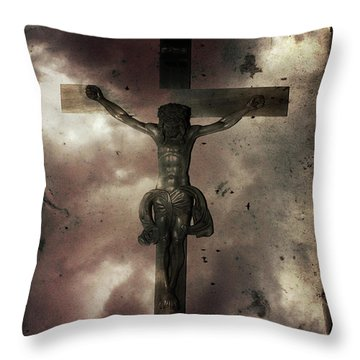 Throw Pillow featuring the painting Love by Gray  Artus