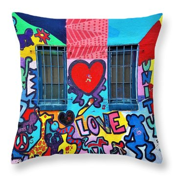 Love Haring  Throw Pillow