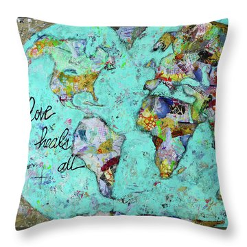 Love Heals All Throw Pillow by Kirsten Reed