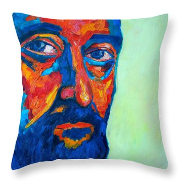 Throw Pillow featuring the painting Love Him So Much by Ana Maria Edulescu
