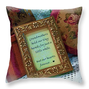 Throw Pillow featuring the photograph Love Holds Our Hearts Forever by Kate Word