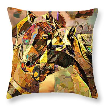 Love Horses Throw Pillow